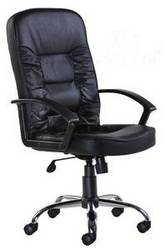 Hertford Black Leather Faced Office Chair HER300T1