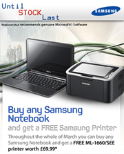 FREE Samsung Printer ML-1660